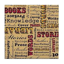 Books Books Books! Tile Coaster