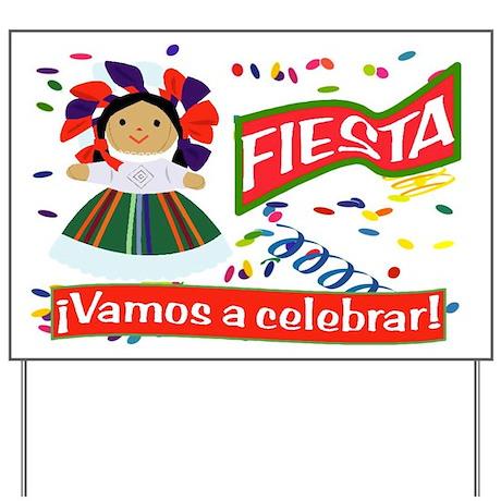 fiesta doll h spanish yard sign by es fiesta time