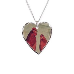 Hen And Rooster Necklace