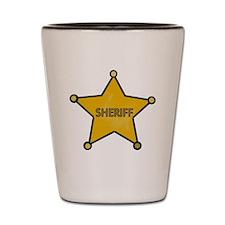 Sheriff Cowboy Shot Glass