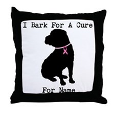 Shar Pei Personalizable I Bark For A Cure Throw Pi