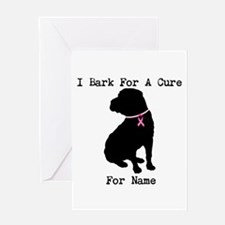 Shar Pei Personalizable I Bark For A Cure Greeting