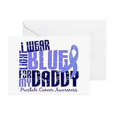 I Wear Light Blue 6.4 Prostate Cancer Greeting Car