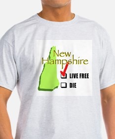 Live Free New Brown T-Shirt