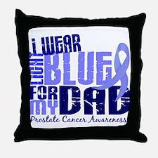I Wear Light Blue 6.4 Prostate Cancer Throw Pillow
