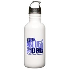 I Wear Light Blue 6.4 Prostate Cancer Sports Water Bottle