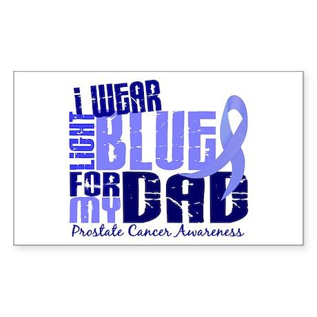 I Wear Light Blue 6.4 Prostate Cancer Sticker (Rec