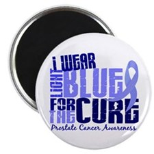 I Wear Light Blue 6.4 Prostate Cancer Magnet