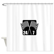 24/7 Racing Shower Curtain