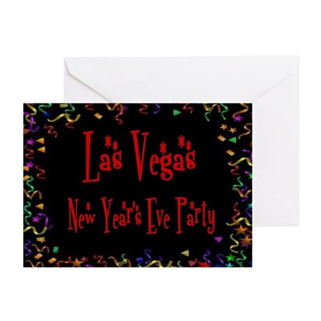 Las Vegas New Year's Eve Party Cards Pk of 10