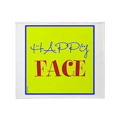 OYOOS Happy Face design Throw Blanket