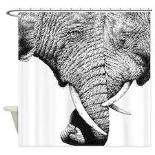 Elephants Trunks Entwined Shower Curtain