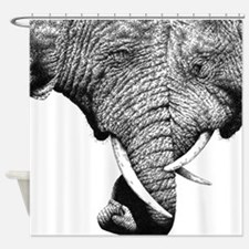 Elephants Trunks Entwined Shower Curtain