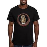 Celtic Owl Men's Fitted T-Shirt (dark)