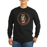 Celtic Owl Long Sleeve Dark T-Shirt