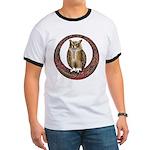 Celtic Owl Ringer T