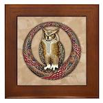 Celtic Owl Framed Tile