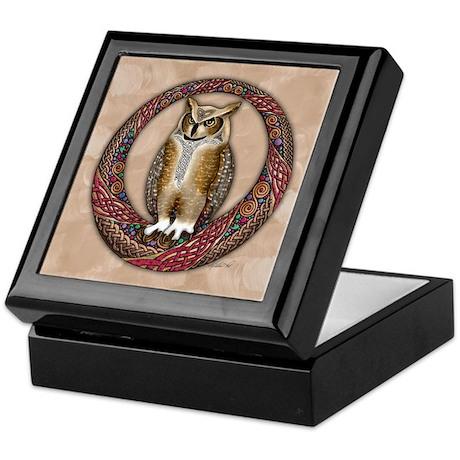Celtic Owl Keepsake Box