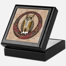Celtic Owl Keepsake Box
