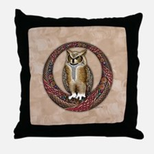 Celtic Owl Throw Pillow
