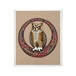 Celtic Owl Throw Blanket