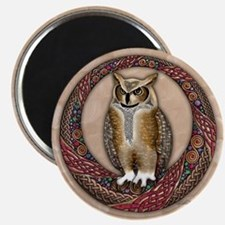 "Celtic Owl 2.25"" Magnet (10 pack)"