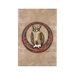Celtic Owl Rectangle Magnet (10 pack)