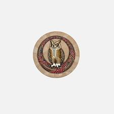 Celtic Owl Mini Button