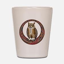 Celtic Owl Shot Glass