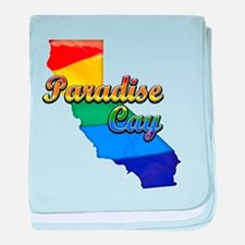 Paradise Cay, California. Gay Pride baby blanket