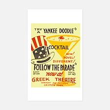 Follow The Parade WPA Poster Sticker (Rectangle)