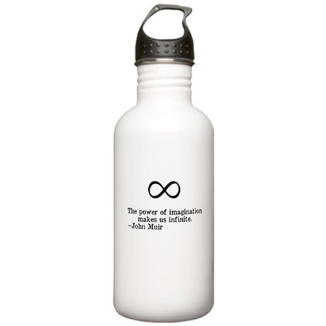 Power of Imagination Quote Stainless Water Bottle