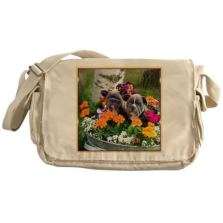 French bulldog puppies Messenger Bag