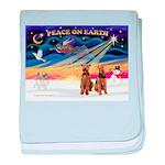 XmasSunrise/2 Airedales baby blanket