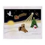 Night Flight/Airedale #5 Throw Blanket