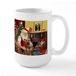 Santas Airedale Large Mug