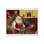 Santas Airedale Throw Blanket