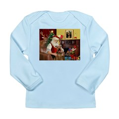Santas Airedale Long Sleeve Infant T-Shirt