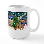 XmasMagic/Airedale Large Mug