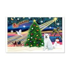Xmas Magic & Akita 22x14 Wall Peel