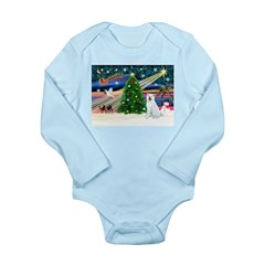 Xmas Magic & Akita Long Sleeve Infant Bodysuit