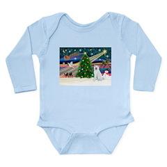 Xmas Magic & Akita Long Sleeve Infant Bodysuit