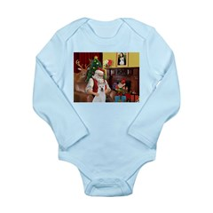 Santa & Akita Long Sleeve Infant Bodysuit