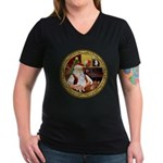 Santa's Am Eskimo #5 Women's V-Neck Dark T-Shirt