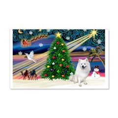 Xmas Magic & Eskimo Spitz 22x14 Wall Peel
