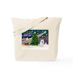 Xmas Magic & Eskimo Spitz Tote Bag