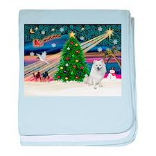 Xmas Magic & Eskimo Spitz baby blanket