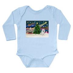 Xmas Magic & Eskimo Spitz Long Sleeve Infant Bodys