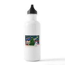 Xmas Magic & Eskimo Spitz Sports Water Bottle