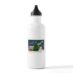 Xmas Magic & Eskimo Spitz Water Bottle